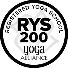 RYS Registered Yoga School Logo 225px